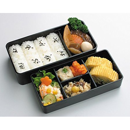 kls9 men 39 s lunch bento box double with bag. Black Bedroom Furniture Sets. Home Design Ideas
