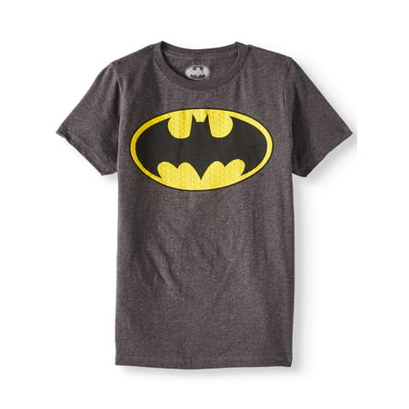 Justice League DC Comics Batman Logo with HD Ink Short Sleeve Tee (Little Boys & Big Boys) - Boy With Halo