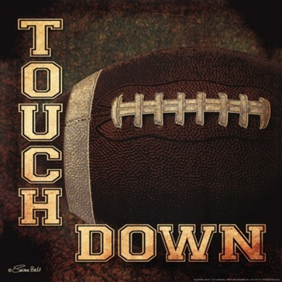 Touchdown Poster Print by Susan Ball (12 x 12)