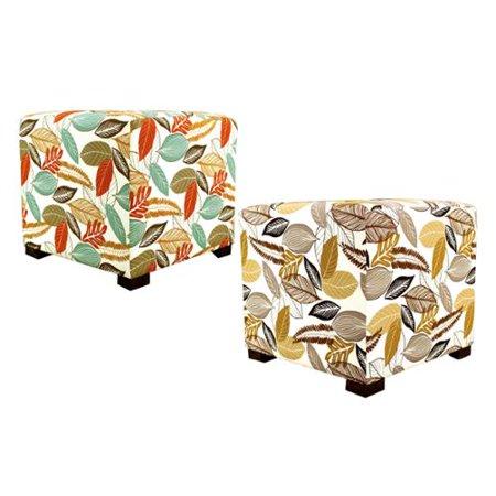 Astonishing Mjl Furniture Flora Foliage Square Button Tufted Ottoman Beatyapartments Chair Design Images Beatyapartmentscom