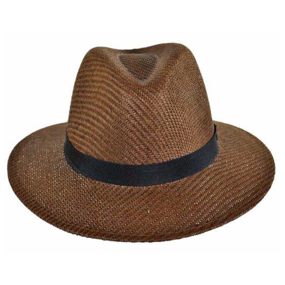 de7eacfcf76 Panama Jack - Panama Jack Men s Safari MatteToyo Hat (Brown Medium ...
