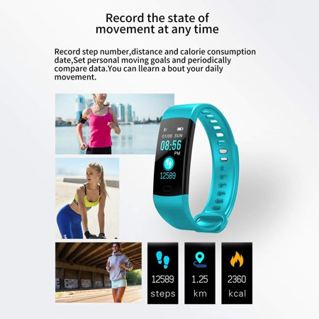 Fitness Tracker w/ Heart Rate Monitor, Waterproof Activity Tracker Watch Color Screen Smart Band with Blood Pressure Oxygen Sleep Monitor For Women Men - image 7 of 13