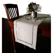 Harvest HD002R Beautiful Hemstitched Table Runner Quality Natural Tablecloth 90 in. Long