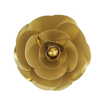 Mega Crafts - 12'' Handmade Paper Flower in Metallic Gold | For Home Décor, Wedding Bouquets & Receptions, Event Flower Planning, Table Centerpieces, Backdrop Wall Decoration, Garlands & Parties ()