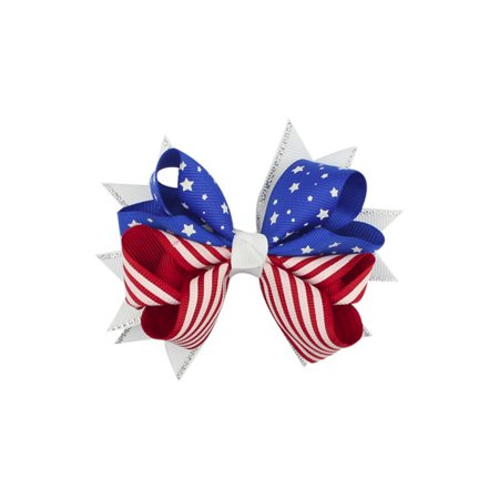 Baby Girls Kids Print 4th Of July Hairpin Hair Clip Accessories