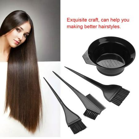 Portable 1set 5pcs New Hairdressing Salon Hair Color Brushes Bowl Bo Dye Tint Tool Kit