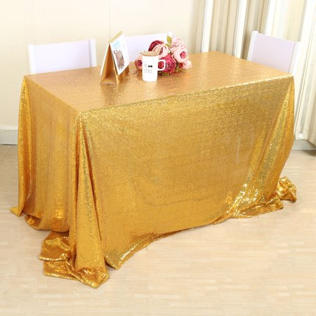 Sequin Rectangle Round Square Tablecloth Table Cloth Cover Multicolor For Wedding