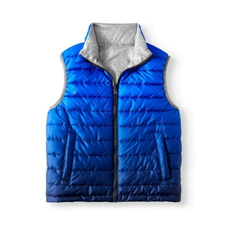 Wonder Nation Reversible Puffer Vest (Little Boys, Big Boys &
