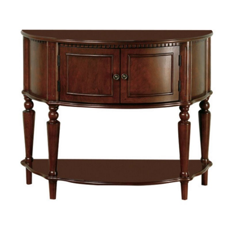 Coaster Storage Entryway Console Hall Table in Brown