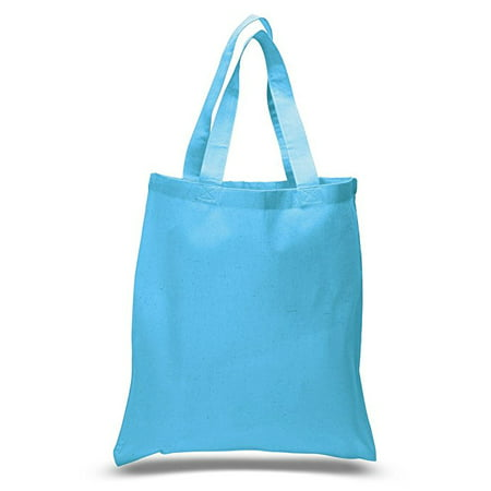 Blue Flower Purse (Set of 6 Blank Cotton Tote Bags Reusable 100% Cotton Reusable Tote Bags )