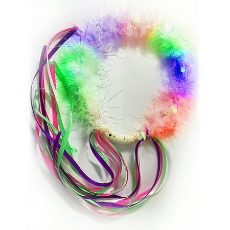 Fun Central (AU508) LED Fairy Halo, Halo Headband, Led Light Up Headband, Led Headband (Flower Halo Headband)