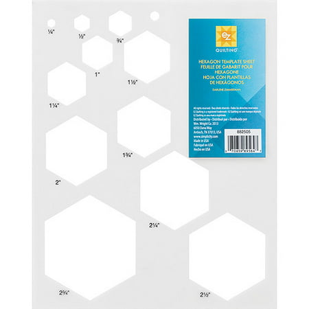 Hexagon Template Sheet