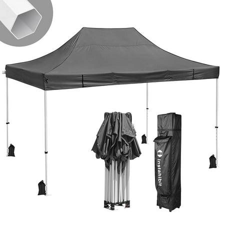 Instahibit® 10x15' Pop Up Canopy Tent Waterproof 550D Commercial Instant Shelter Flea Markets Outdoor