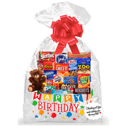 Happy Birthday Thinking Of You Cookies, Candy & More Care Package Snack Gift Box Bundle Set - Arrives in 3-4Business Days ()