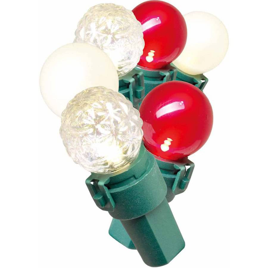 Holiday Time Lite-Lock LED Glass G15 Christmas Lights, Multi-Color, 70-Count