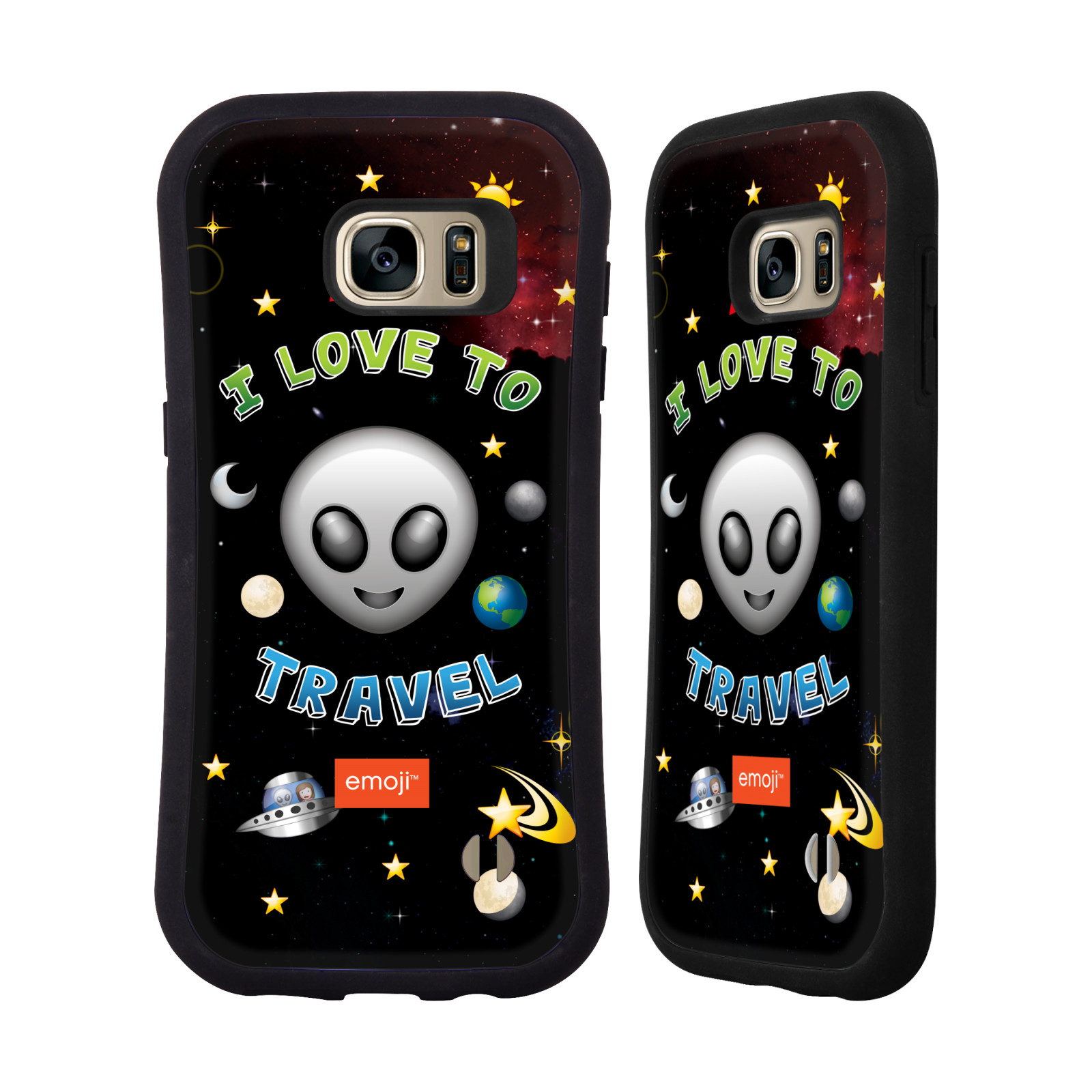 OFFICIAL EMOJI SPACE HYBRID CASE FOR SAMSUNG PHONES