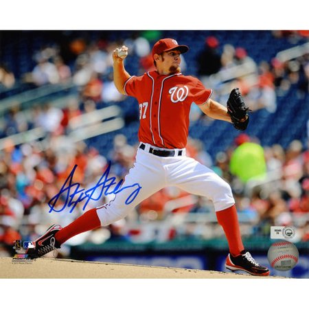 MLB - Stephen Strasburg Autographed 8x10 Photograph | Details: Washington Nationals Autographed 8x10 Coa Mounted Memories