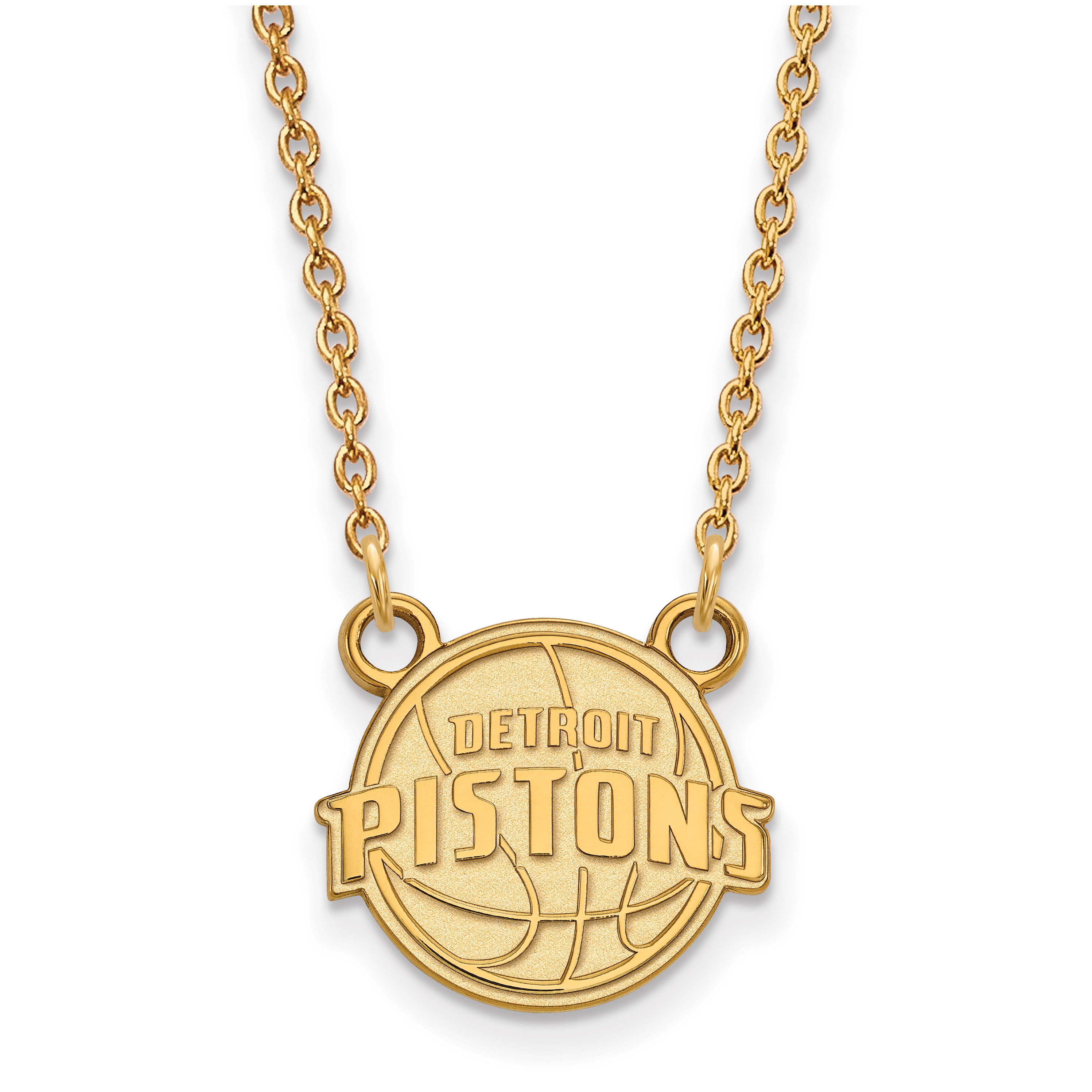 Detroit Pistons Women's Gold Plated Pendant Necklace - No Size