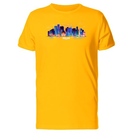 Milan Home Shirt - Colorful Milan City Skyline Tee Men's -Image by Shutterstock
