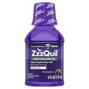 Vicks ZzzQuil Nighttime Sleep Aid Liquid, Warming Berry, 6 Fl Oz