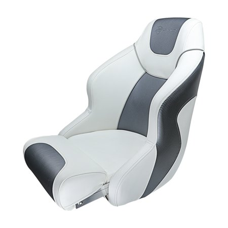 Premium Bucket Seat - Seamander S1045 Series Premium Bucket Seat,Sport Flip Up Seat, Captain Seat, Colors White/Charcoal, White/Navy