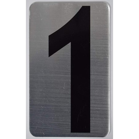 House Number Sign/Apartment Number Sign- one (1) (Silver, Size 3x5) -The Hippo LINE