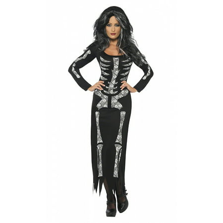 Skeleton Adult Costume - Medium - Womens Skeleton Costume Dress