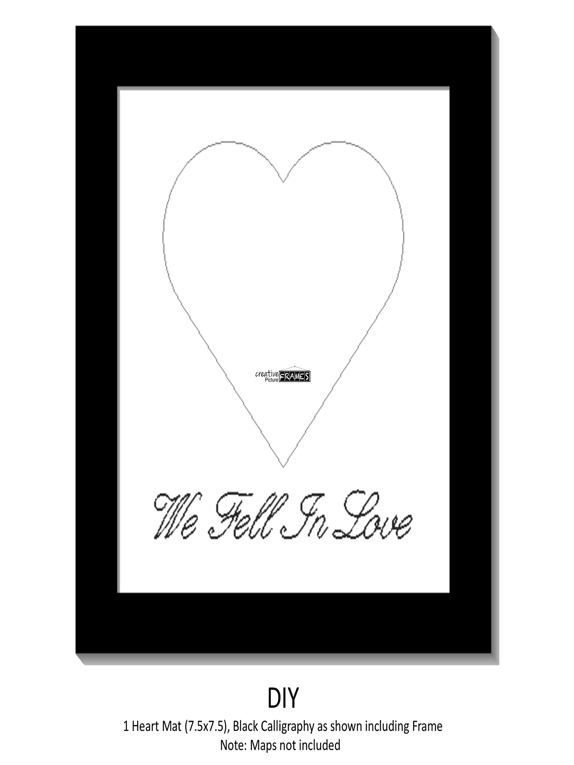 Heart Mat With 8 by 16-inch Self Standing Frame Including Black ...