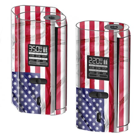 Skin Decal For Smok Gx2 4 350W Tc Vape   American Flag Pot Leaf Stars Marijuana
