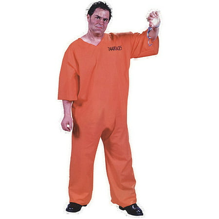 Got Busted Orange Jumpsuit Adult Halloween Costume - Orange Halloween Costumes