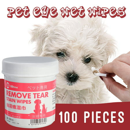 120Pcs/100Pcs Pet Eye Wet Wipes Dog Cat Grooming Tear Stain Remover Cleaning Wet Towels