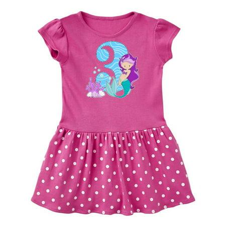 Third Birthday Mermaid Toddler Dress (Dress Up Little Mermaid)
