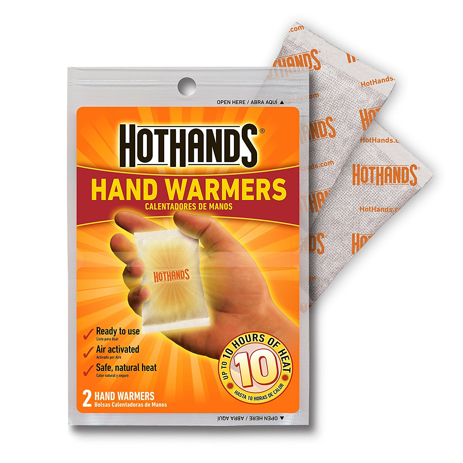 Long Lasting Safe Natural Odorless Air Acti HotHands Body Hand Super Warmers