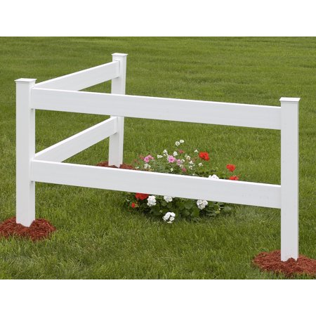 Vinyl Fence White 2-Rail 6 FT Corner Kit FRC100