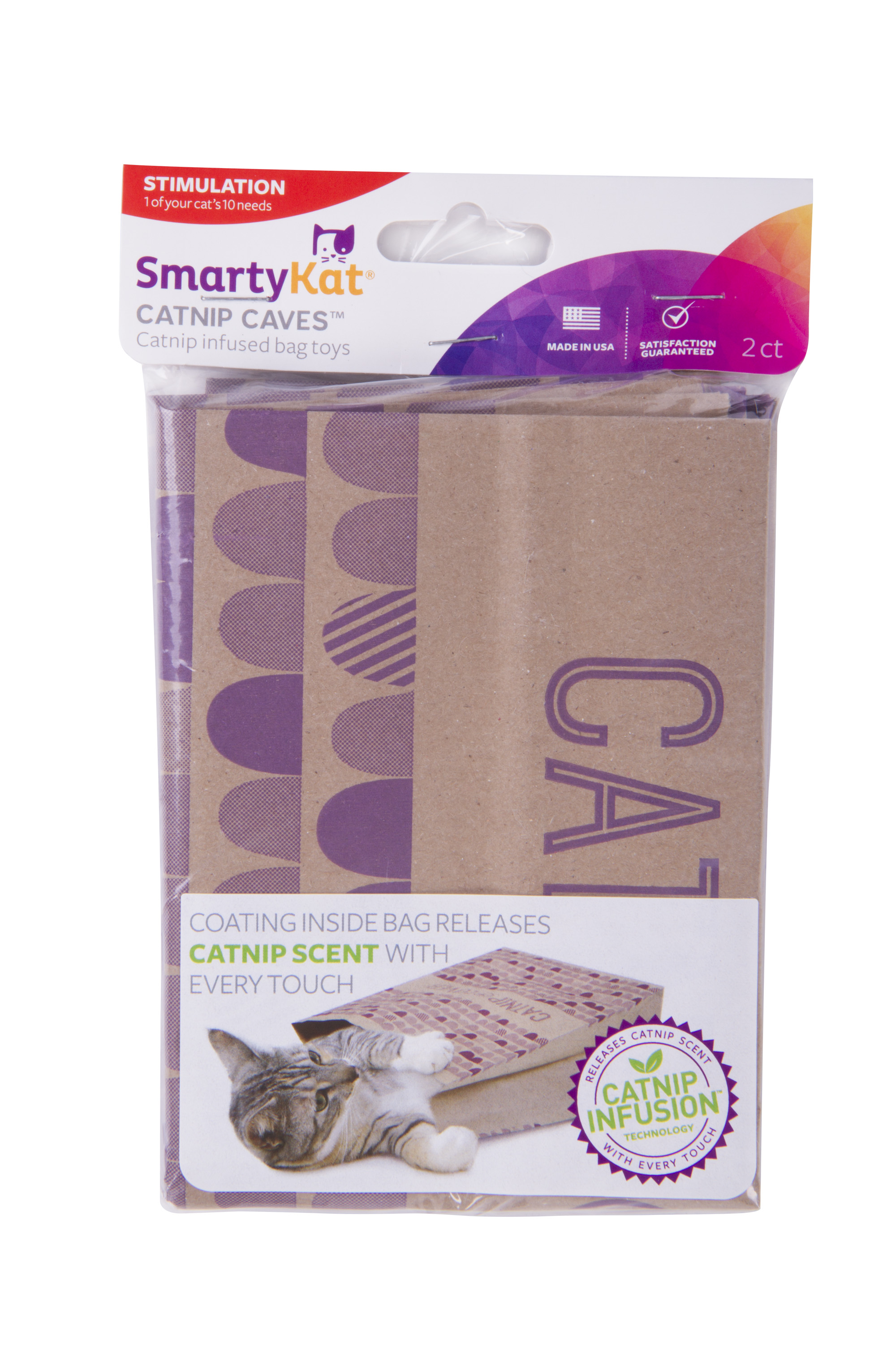 SmartyKat Cat Caves Catnip Infused Paper Bags, Set of 2 by Worldwise