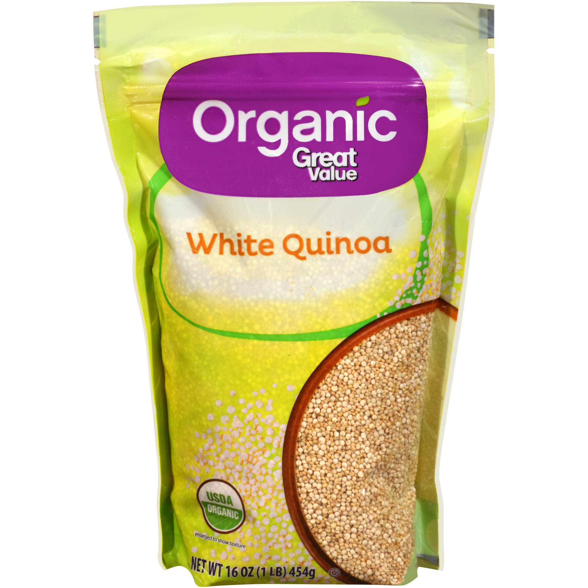 Organic Great Value White Quinoa, 16 oz