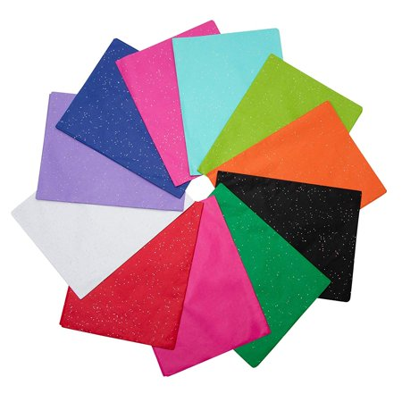 Tissue Paper Halloween Crafts (Genie Crafts 120-Sheet Bulk Colored Gift Wrap Tissue Paper with Glitter, 12 Colors, 20 x 26)
