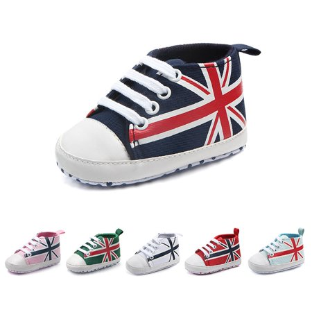 BOBORA Newborn Baby Unisex M-word Flag Shoes PU Leather Soft Cotton Bottom Sneaker Cribe Shoes Frist Walkers 0-18M](Chuck Taylors Baby)