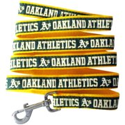 Pets First MLB Oakland Athletics Cats and Dogs Durable Pet Leash, Large