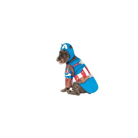 Captain America Pet Costume (Deluxe Captain America Pet Halloween)