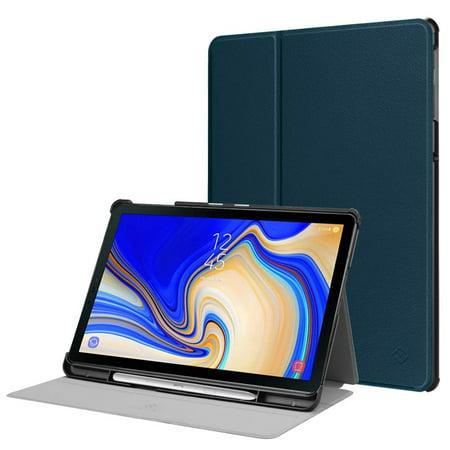 Fintie Super Slim Case for Samsung Galaxy Tab S4 10.5 2018, Folio Lightweight Stand Cover w/ S Pen Holder, - Super Slim Holder