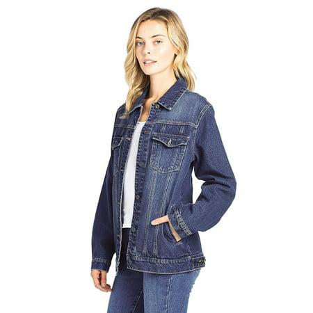 on sale online best shoes modern design Women's Oversized Relaxed Loose Jean Denim Jacket Long Coat
