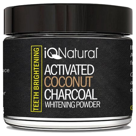 Teeth Whitening Activated Coconut Charcoal Powder. Eliminates bad breath, coffee and Tea Stains. 100% Organic and
