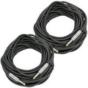 "Seismic Audio 2 Set 50' 1/4"" to 1/4 Speaker PA/DJ Cables 14 Gauge NEW - FS50-2"