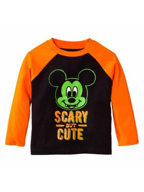 60a83d93f18 Product Image Disney Infant Toddler Boys Orange Black Mickey Scary Cute  Halloween Shirt