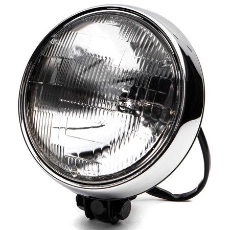 "Krator 6"" Black w/ Chrome Ring Motorcycle Headlight Bottom Mount Running Light Hi/Lo for Harley Davidson Softail Cross Bones Deuce Rocker - image 8 of 8"