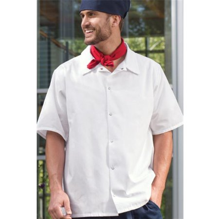 Large Utility Snap (Vtex 0954-2507 6 Snap Utility Shirt, White, 3X Large )