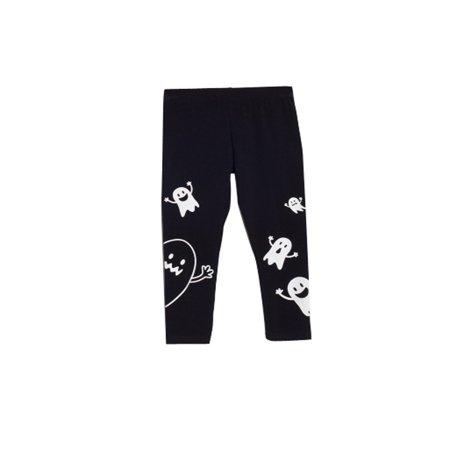 bossini kids toddler girls halloween ghost leggings pants black size 3t 10