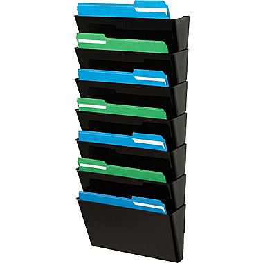 Staples 174 Plastic Pocket Files Letter Size Black 7