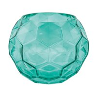 Fun Express - Teal Textured Glass Vase for Wedding - Home Decor - Decorative Accessories - Vases - Wedding - 1 Piece